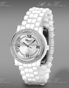 Chopard Happy Sport Full White Authentic Ceramic Diamond